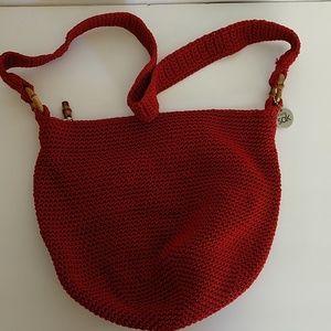 Handbags - Sak red crochet purse
